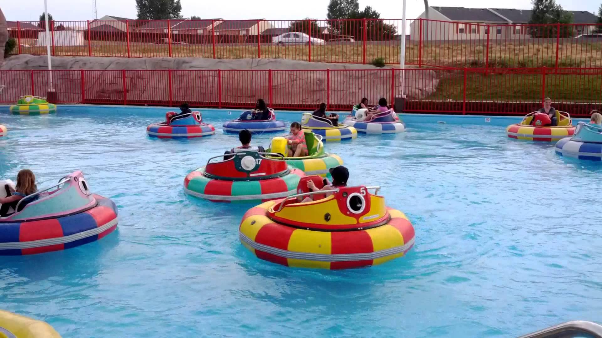 kids Riding Bumper Boats