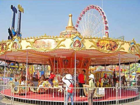 antique carousel with grand appearance