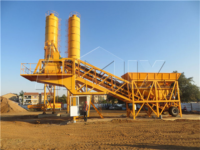 YHZS35 Mobile Concrete Mixing Plant